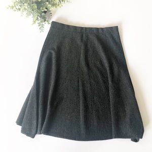 Maeve Anthropologie Skater Circle Skirt Wool Blend